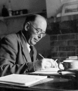 C.S. Lewis at his desk